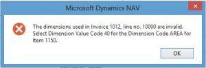 Item Default dim error